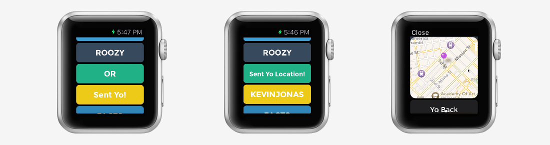 Yo! This popular quick messaging app has been updated for the Apple Watch