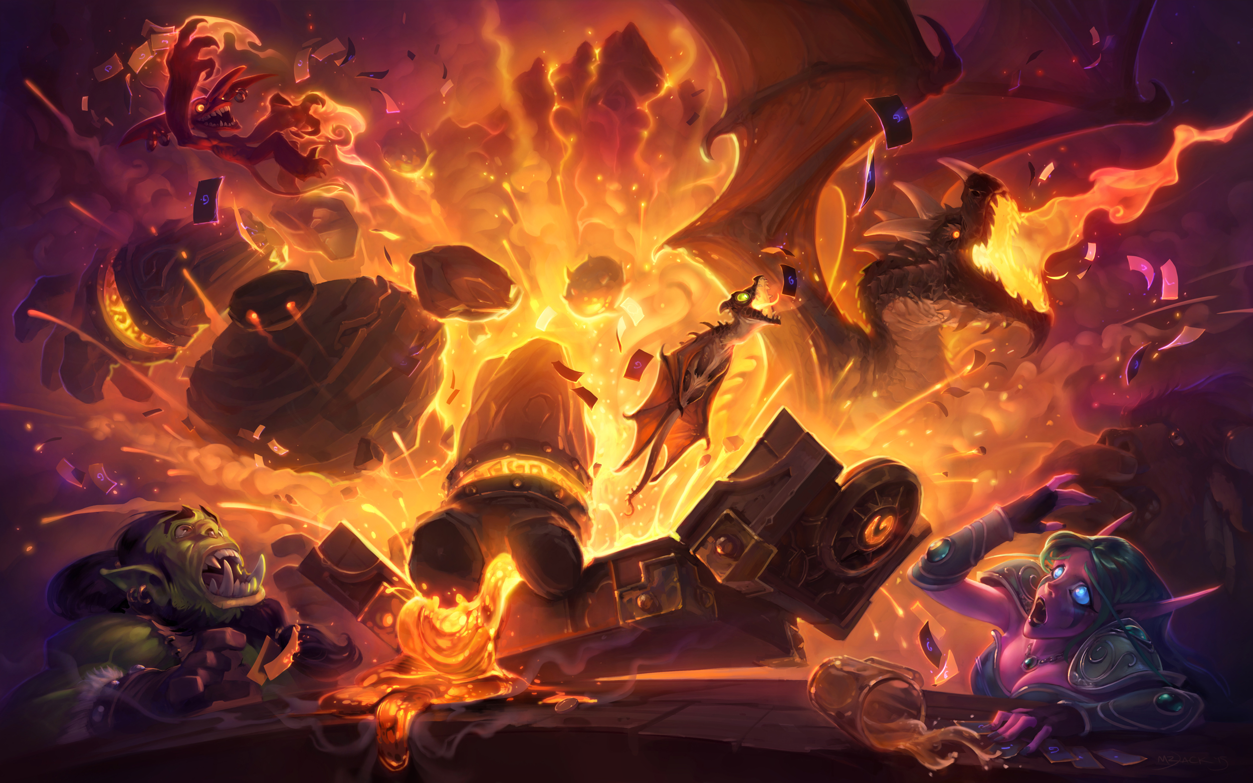 Blackrock Mountain, the newest expansion pack for Hearthstone: Heroes of Warcraft, opens on the iPad