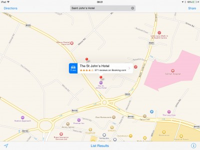 Apple's Maps app now offers users hotel reviews from TripAdvisor, Booking.com