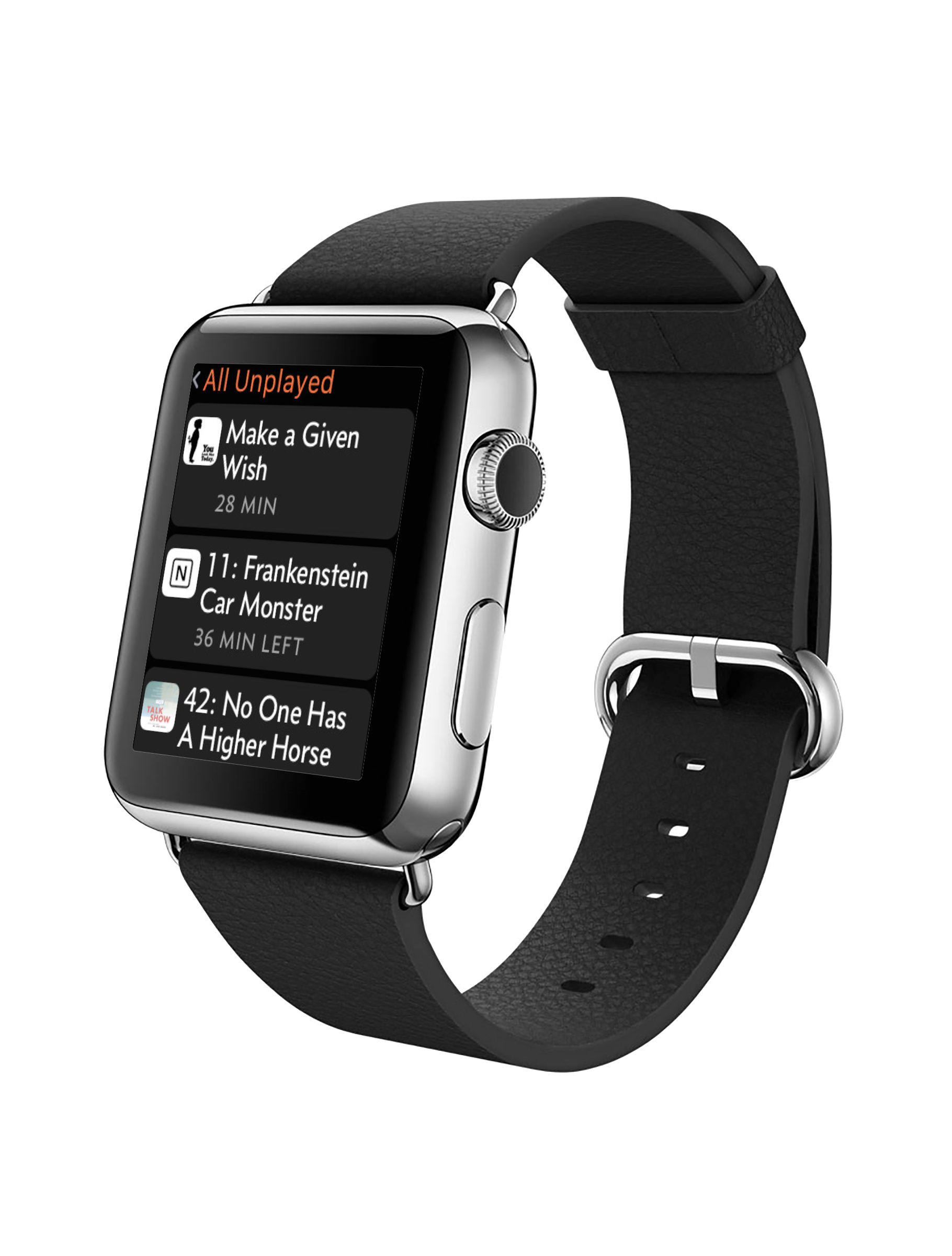 A first look at the popular podcast app Overcast on Apple Watch