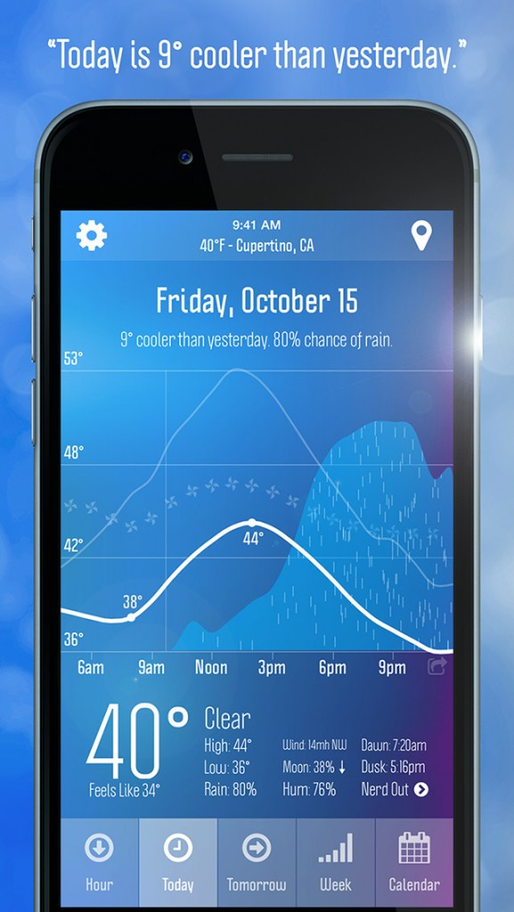 Weather Nerd is a comprehensive weather app that is appropriately named
