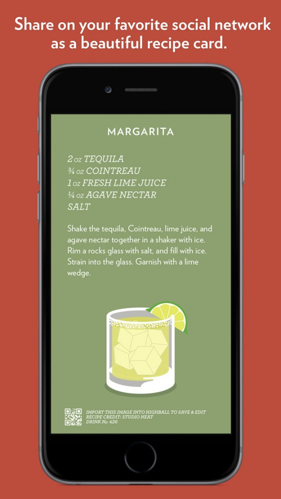 Highball from Studio Neat is a slick new app for sharing and collecting cocktail recipes