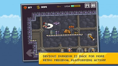 Claim the castle treasure as yours in Devious Dungeon 2, the latest action platformer from Ravenous Games