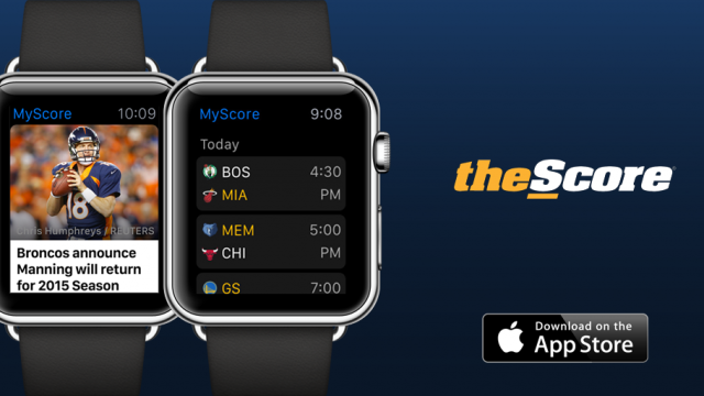 Get real-time sports scores, news and more on your wrist with TheScore for Apple Watch