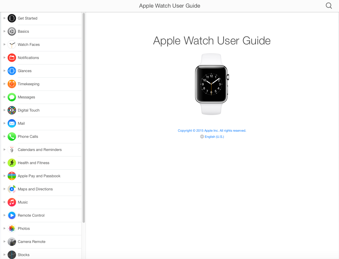 The Apple Watch User Guide and dedicated watch App Store have both gone live