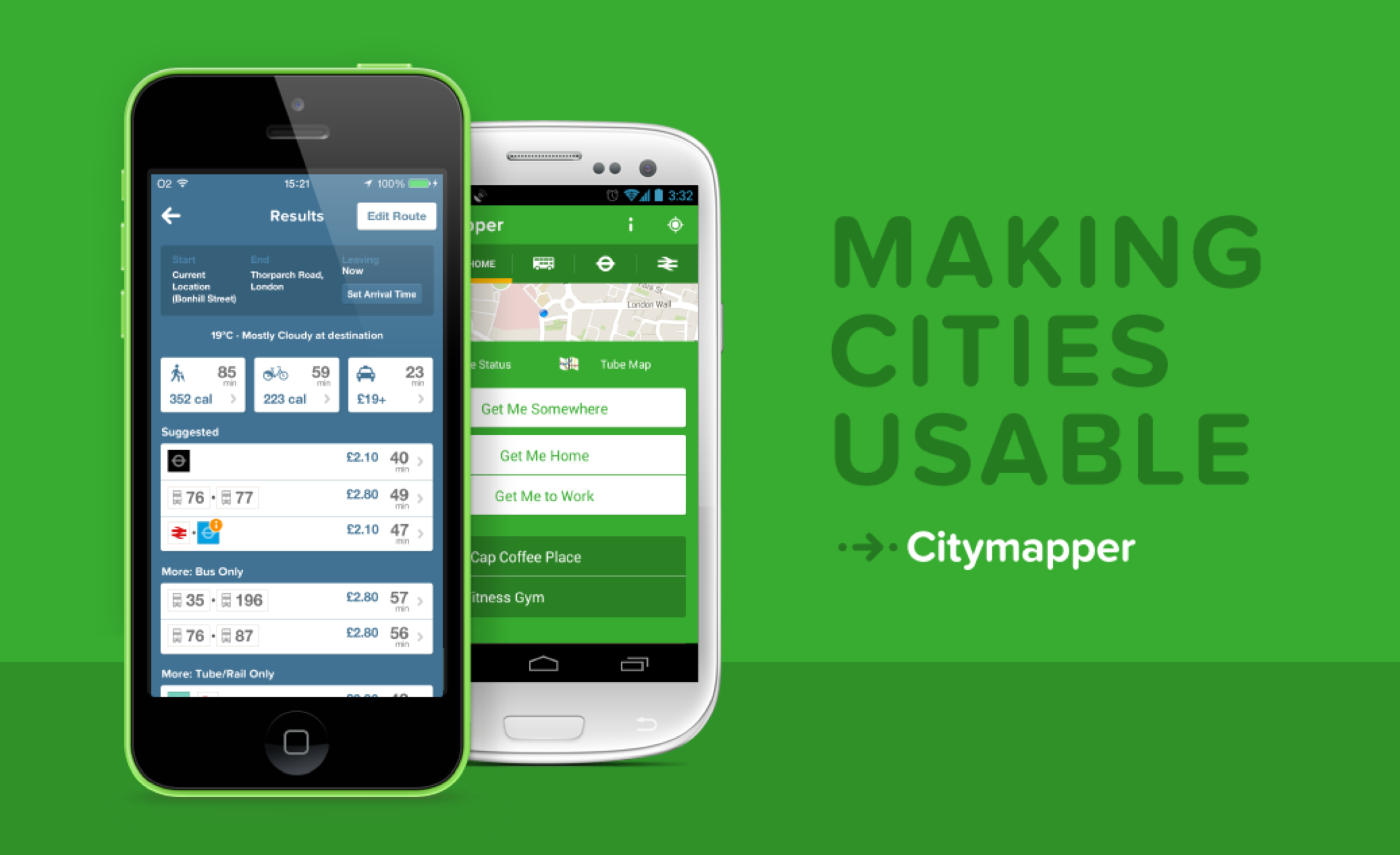 Citymapper's latest update brings handy sharing options, improvements and more