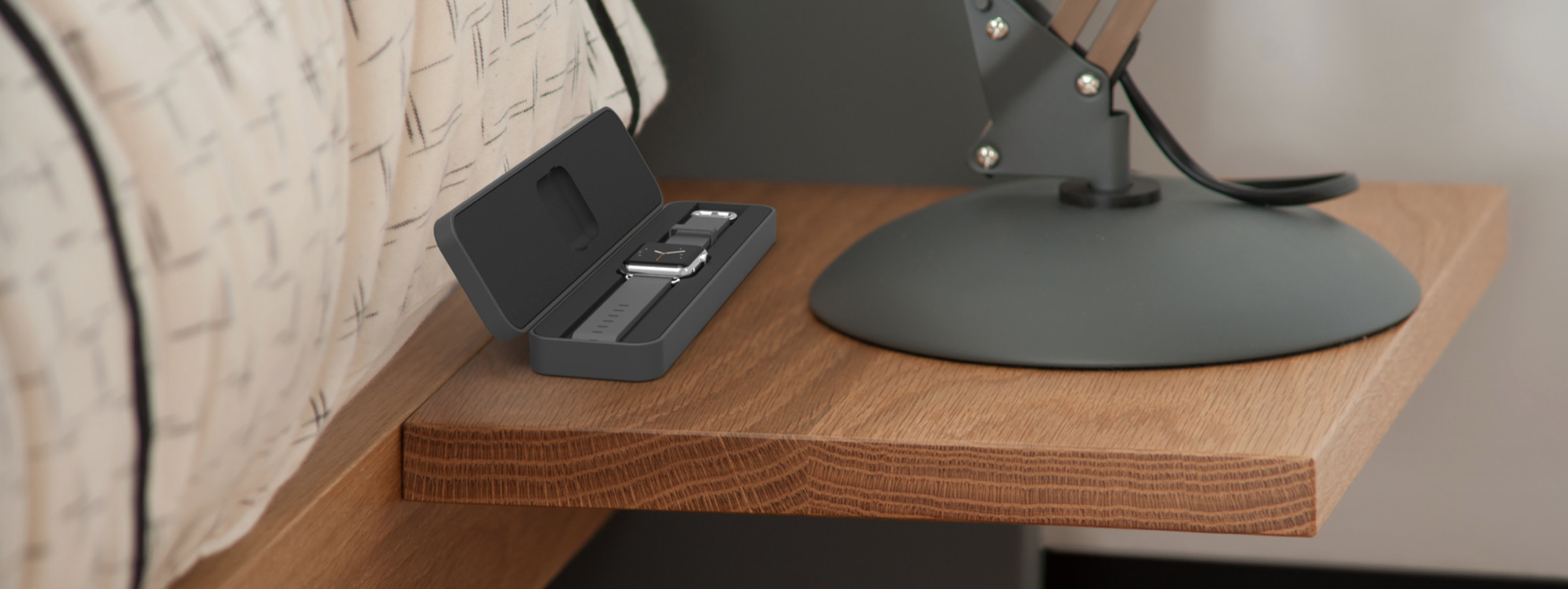WatchKeeper is a smart dock that can charge your Apple Watch, and protect it