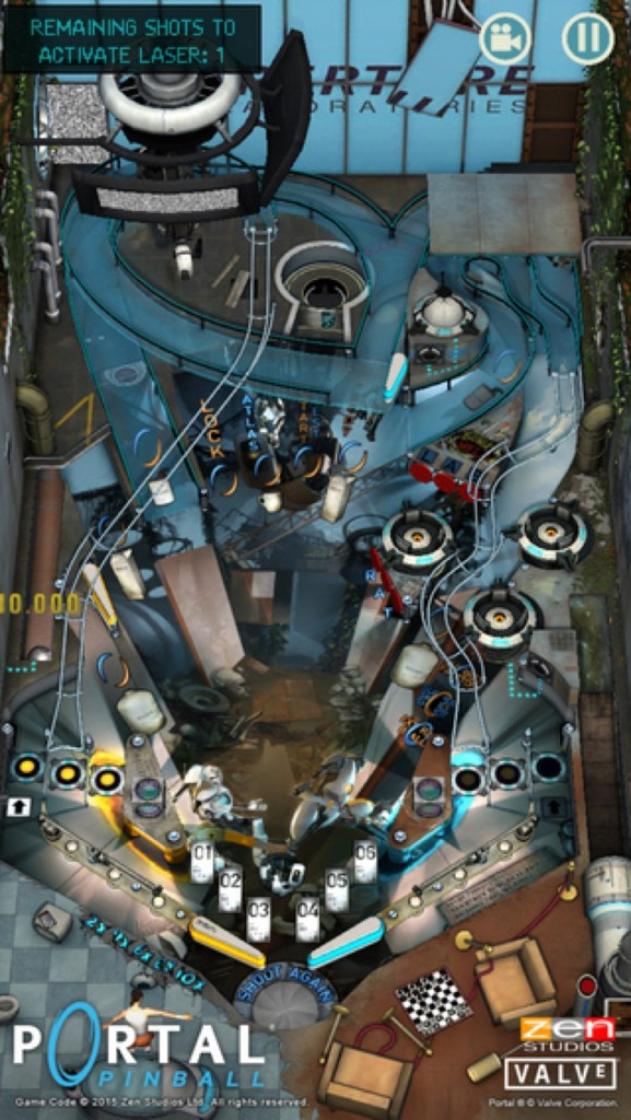 Portal Pinball for iOS.
