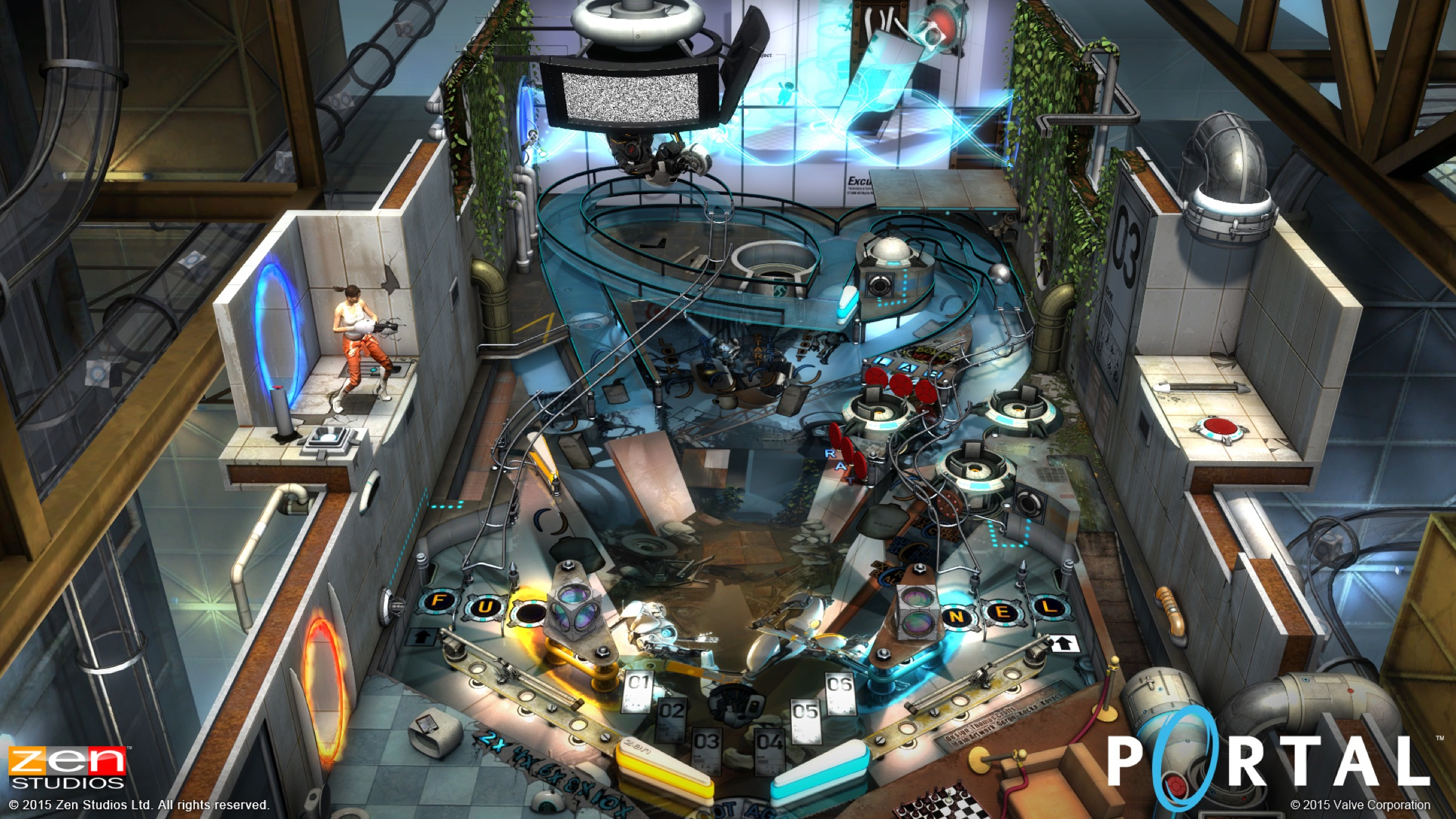 Zen Studios launches a new, Portal-themed pinball game on the App Store