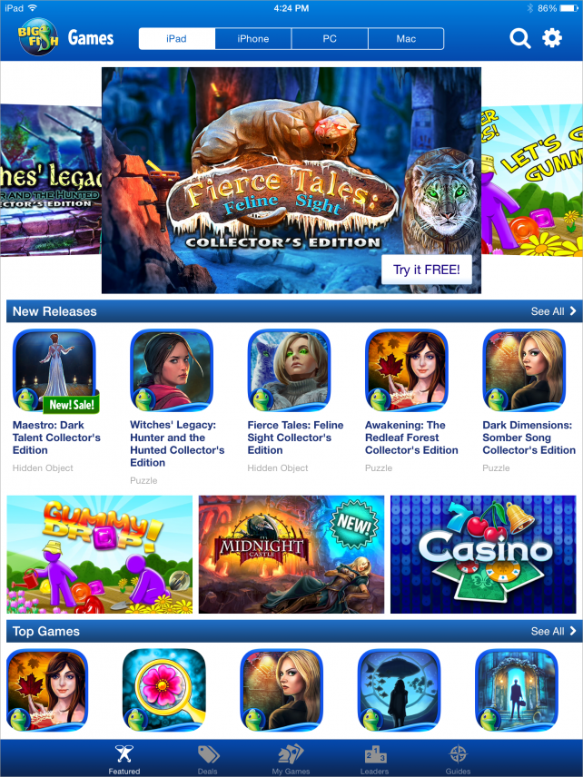 Big Fish Games App Featured