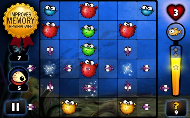 Save the goldfish queen by popping evil fish in the new puzzler Bubbla