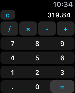 Calcy Calc on Apple Watch