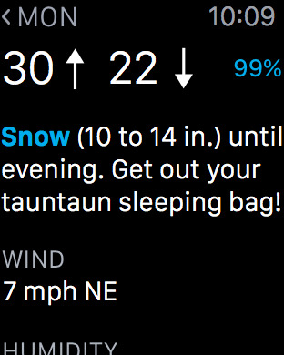 Carrot Weather Apple Watch 2