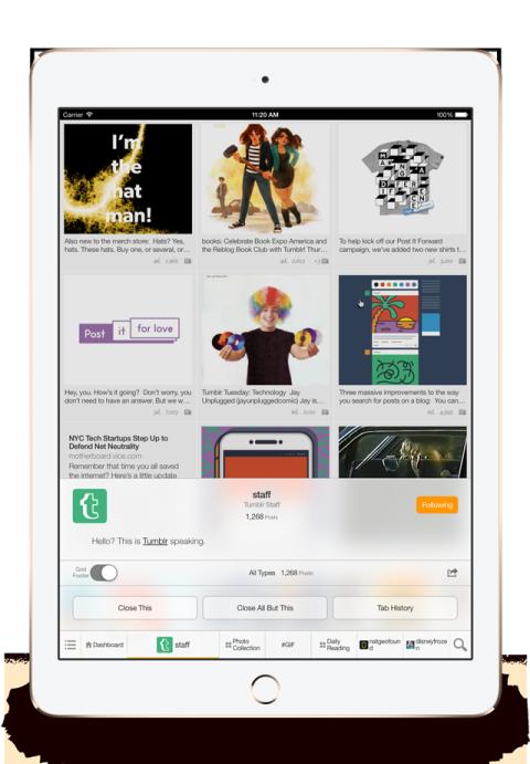 FastFeed Tumblr iPad