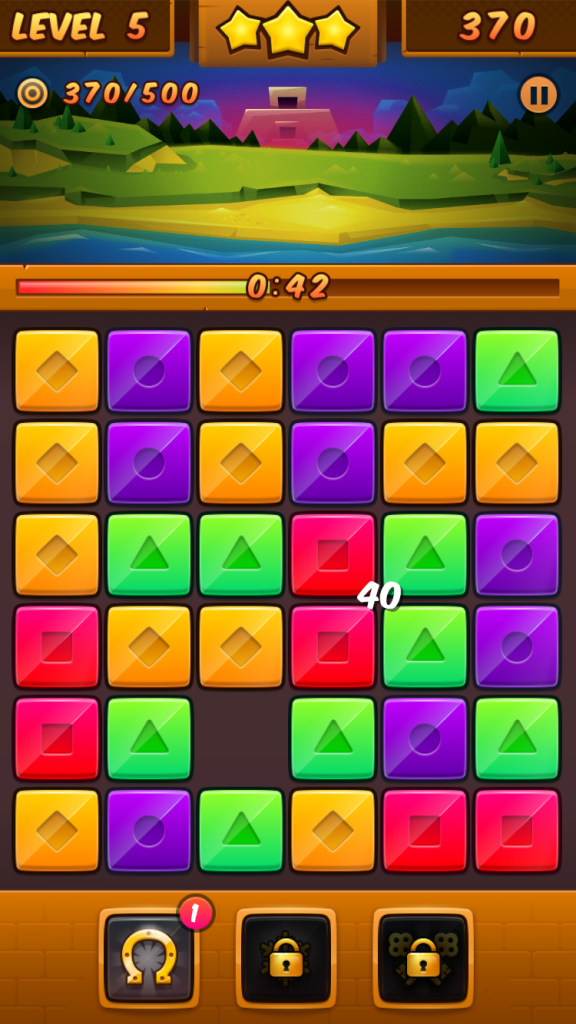 Slide and match your way through beautiful islands in Temple Rush, a new matching puzzle game
