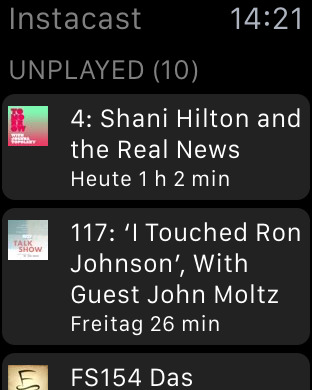 Instacast 5 Watch Unplayed