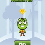 The new relaxed game Jumping Monster has you capturing shiny diamonds