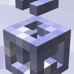 Flick the cube in the new 3-D puzzle game Key