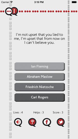 Quote Quiz iPhone