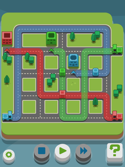 The mini truck puzzle game RGB Express is updated with tons of fun new levels