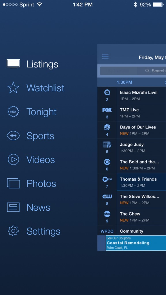 TV Guide Navigation