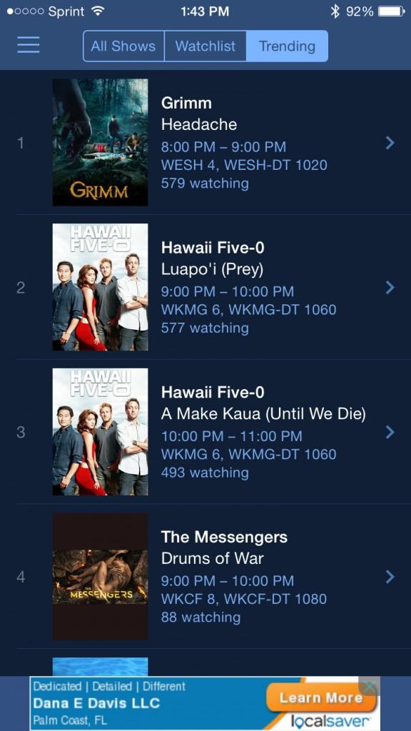 TV Guide Trending