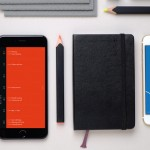 Moleskine Timepage provides a timeline of events, weather and maps for a complete experience