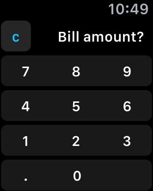 Tipy Calc Bill Amount