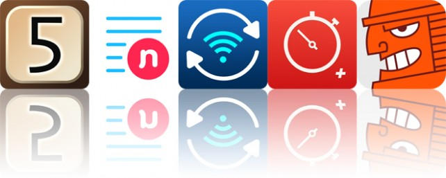 Today's apps gone free: Five-O, Note'd, Pic Sync and more