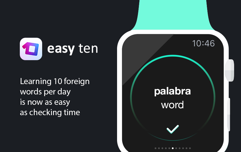 Easy Ten makes learning languages as simple as checking the time