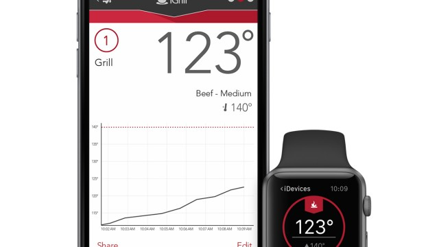 Use your Apple Watch and the updated iDevices Connected app to keep track of what's cooking