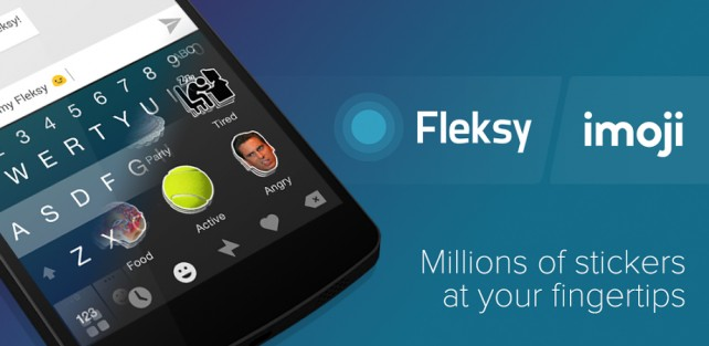 Popular third-party keyboard Fleksy updated with new imoji stickers and a contextual hashtag feature