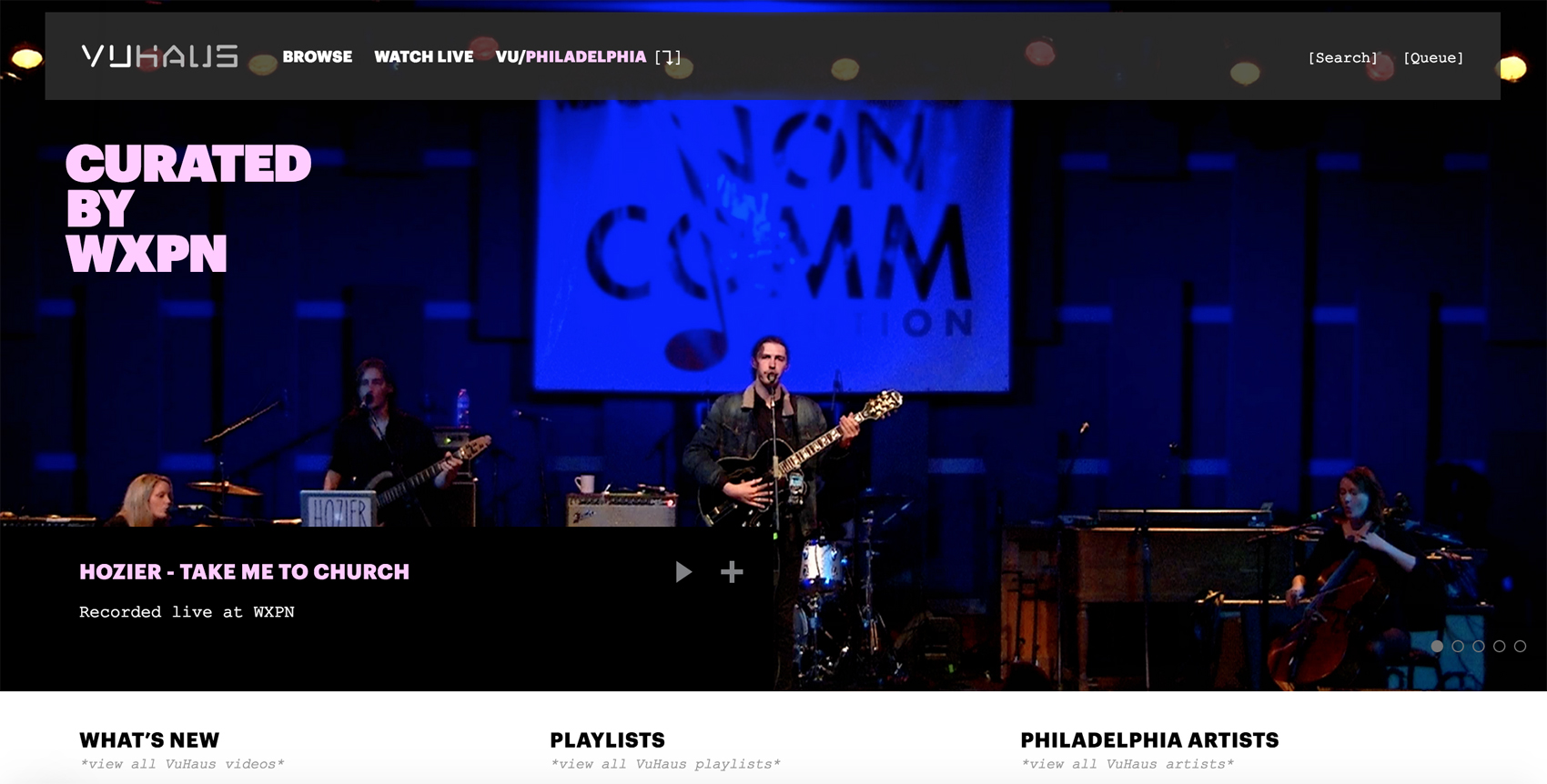 Discover rare live music performances with the new VuHaus app