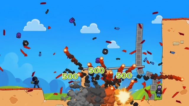 Have some fun blowing up the bad guys in Fragger 2, the long awaited physics-based puzzle game sequel