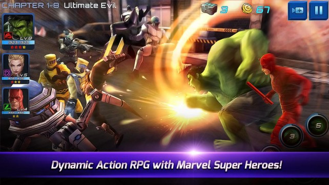 Play as your favorite Marvel super heroes and super villains in this action-packed RPG.
