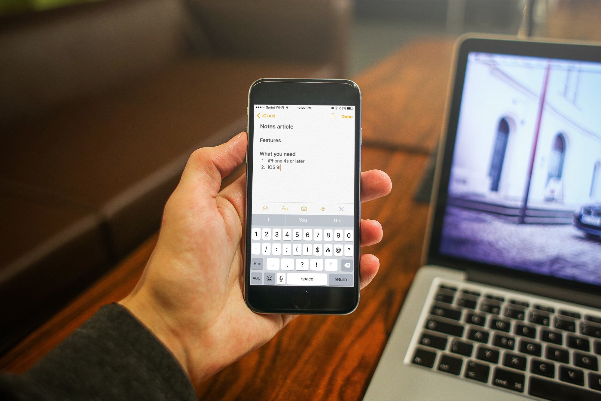 What are the top new features in iOS 9's Notes app?