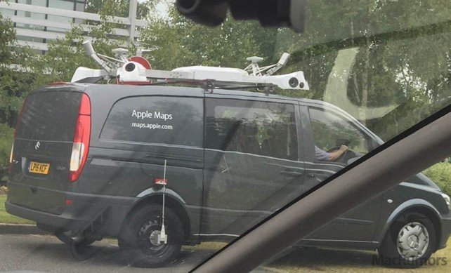 Apple Maps vehicles in the United Kingdom.