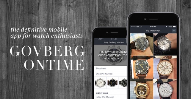 OnTime for iOS is a virtual watch collector's toolbox