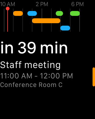 Fantastical 2 Glance on Apple Watch