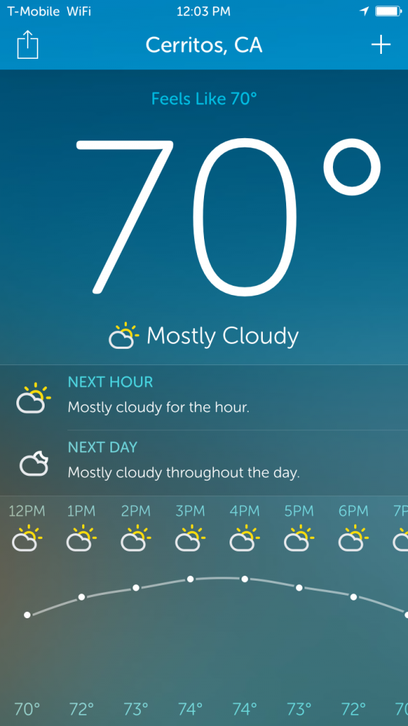Get gorgeous weather forecasts on-the-go with Atmos