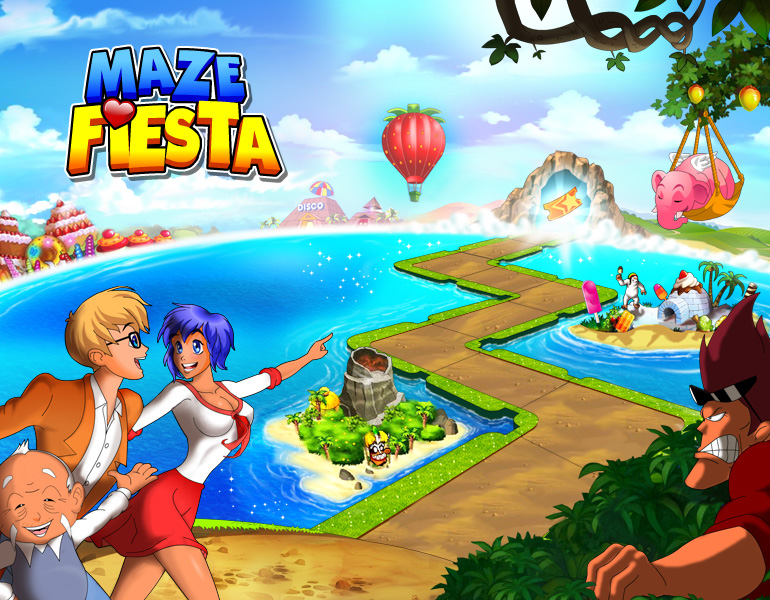 Groove with the beats and enter the sweeps in Maze Fiesta