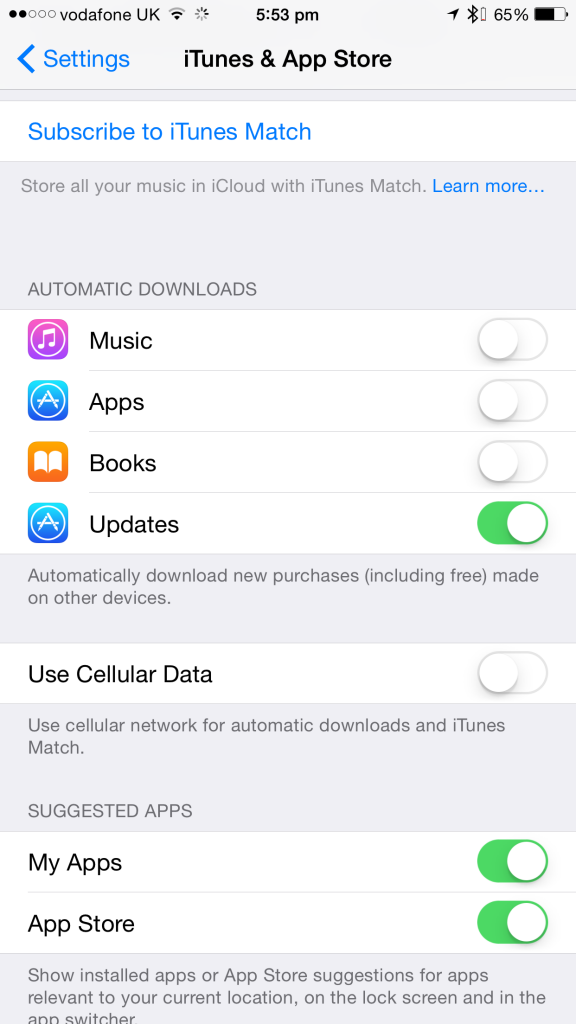App Store auto-updates over cellular can be easily disabled.