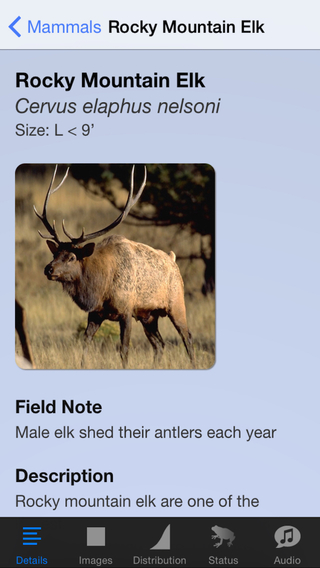 Rocky Mountain National Park Field Guide Animal