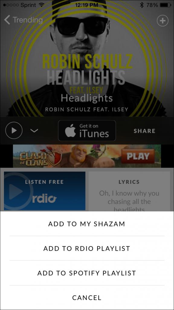 Shazam Update