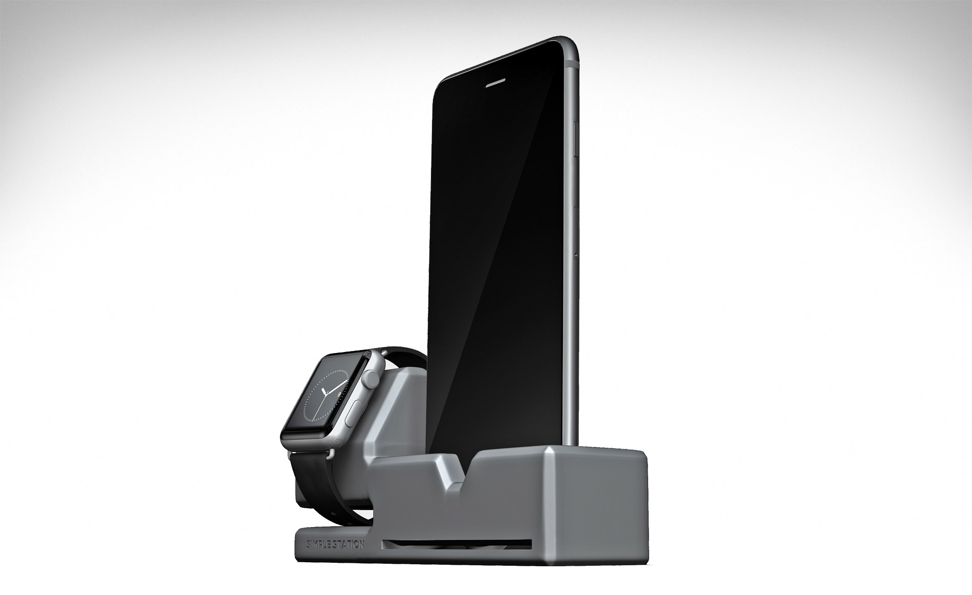 Simple Station holds your iPhone and Apple Watch in style
