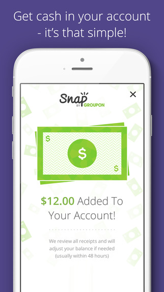 Snap by Groupon Redeem