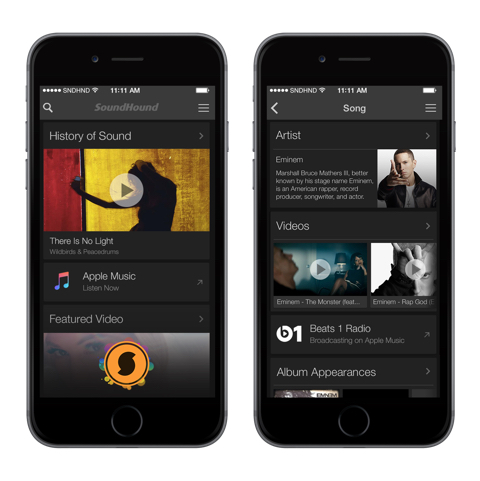 SoundHound + Apple Music