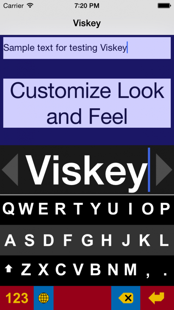 Viskey White on Black