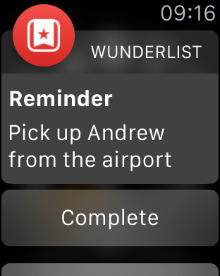 Wunderlist Watch Notify