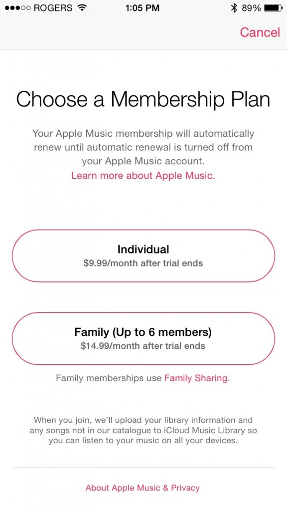 apple music subscribe